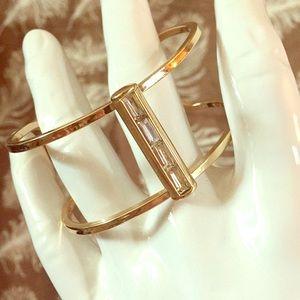 EXPRESS Negative Space Cuff Rhinestone Bracelet